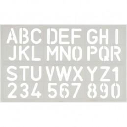 Escantilhão Plástico Letras...